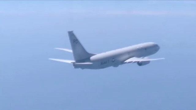 Rus savaş uçağı, Karadeniz üzerinde uçuş yapan ABD uçağını böyle uzaklaştırdı