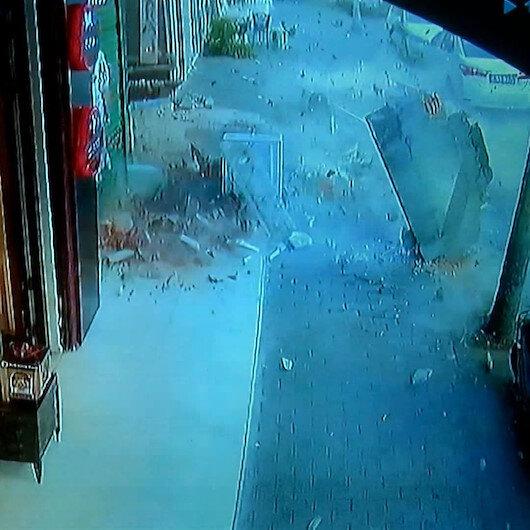 Küçükçekmecede beş katlı binanın iki balkonu çöktü, facianın eşiğinden dönüldü