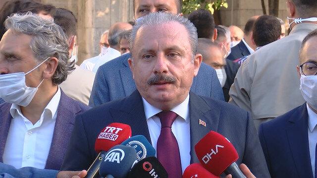 TBMM Başkanı Şentop meclis başkanlarıyla görüştü