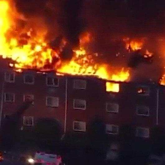 ABDdeki dev yangında 125 kişi evsiz kaldı