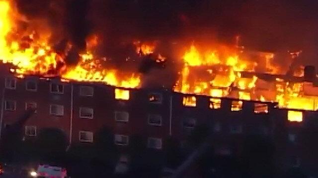 ABD'deki dev yangında 125 kişi evsiz kaldı