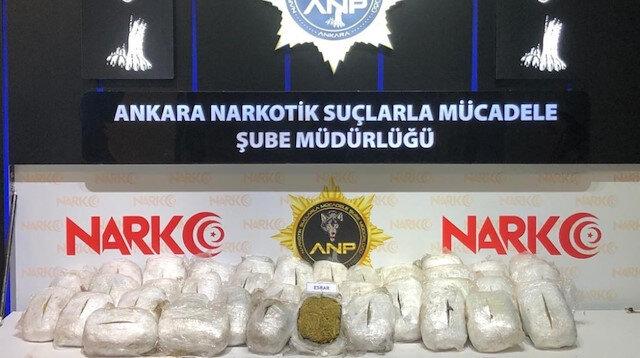 Narkotik'ten dev operasyon: 152 kilo esrar ile 20 kilo eroin ele geçirildi