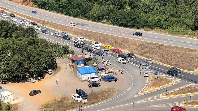 İstanbul haberleri: Vatandaşlar Şile'ye akın etti: Kilometrelerce kuyruk oluştu