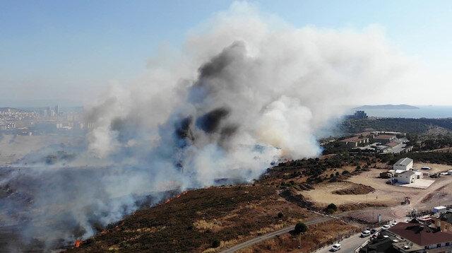 Maltepe'de askeri kışlada korkutan yangın