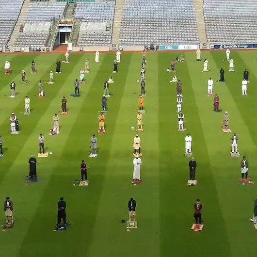 İrlandanın ünlü stadyumu Kurban Bayramı için Müslümanlara açıldı