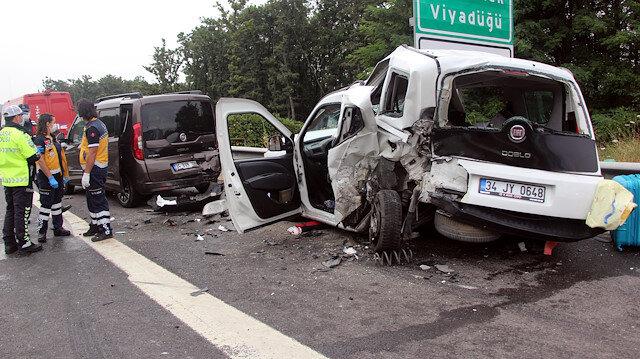 Bolu'da zincirleme trafik kazası: 8 yaralı
