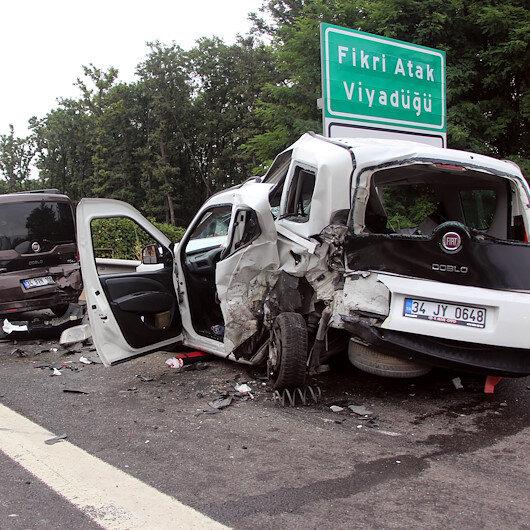 Boluda zincirleme trafik kazası: 8 yaralı