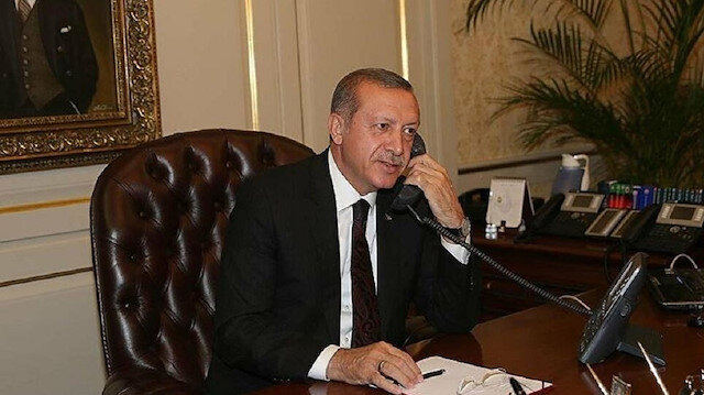 Cumhurbaşkanı Erdoğan, mevkidaşlarıyla bayramlaştı