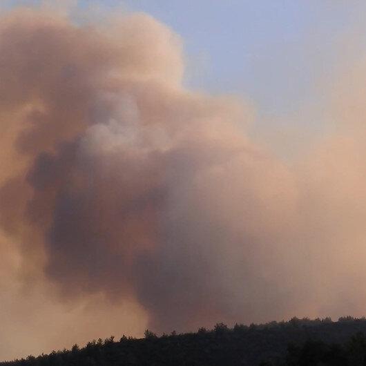 İzmirin Menderes ilçesinde meydana gelen yangın güçlükle söndürüldü