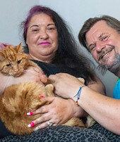 Sadık kedi Garfield: Yedi hafta 65 km yol gitti