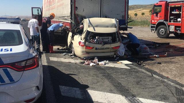 Ankara'da gurbetçi aile kaza yaptı: 5 kişi hayatını kaybetti
