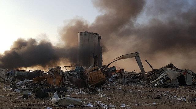 Beyrut'ta şiddetli patlama: Bina yıkıldı onlarca yaralı var