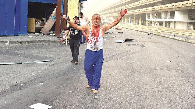 Beyrut'ta dehşet: Patlayıcı deposu infilak etti!