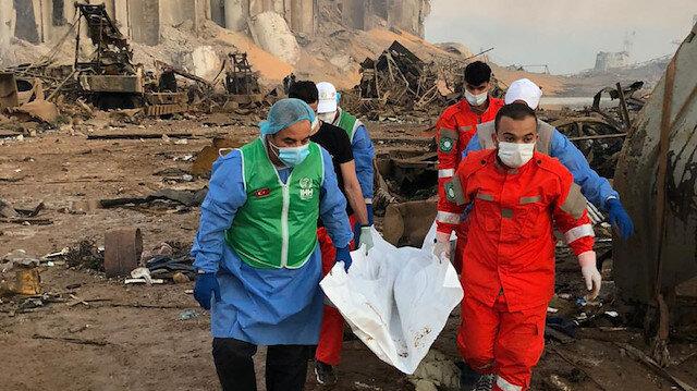 İHH ekipleri Beyrut'ta yaraları sarmaya başladı