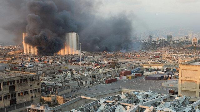 Lübnan'daki dehşet verici patlama sonrası ABD'den zehirli gaz uyarısı!