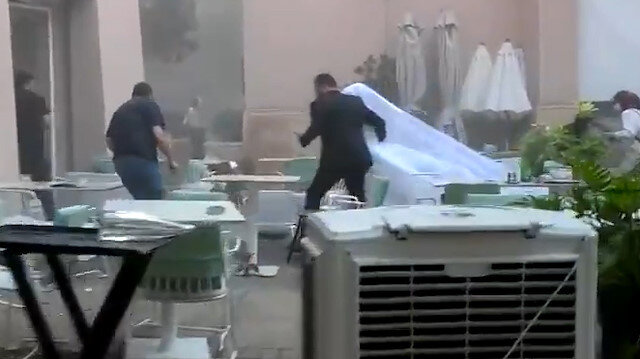 Beyrut'taki patlamada fotoğraf çekimi yapan çiftin görüntüleri yaşanan dehşeti gözler önüne serdi