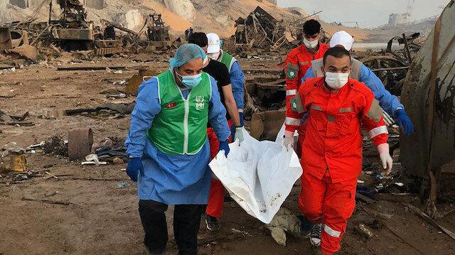 Beyrut'taki patlamanın ardından İHH ekipleri bölgede yardım çalışmalarına başladı