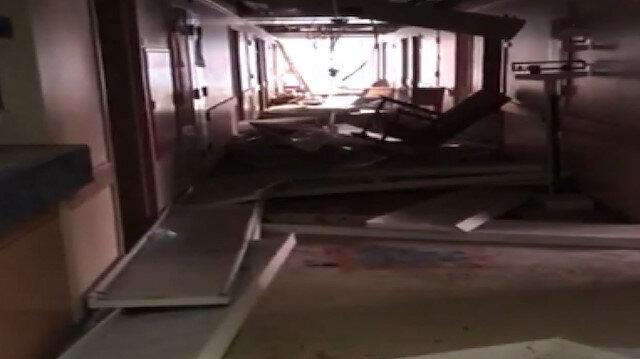 Lübnan'daki patlamada cami ve hastanede büyük hasar oluştu: Patlama anı alışveriş merkezinin kamerasına yansıdı