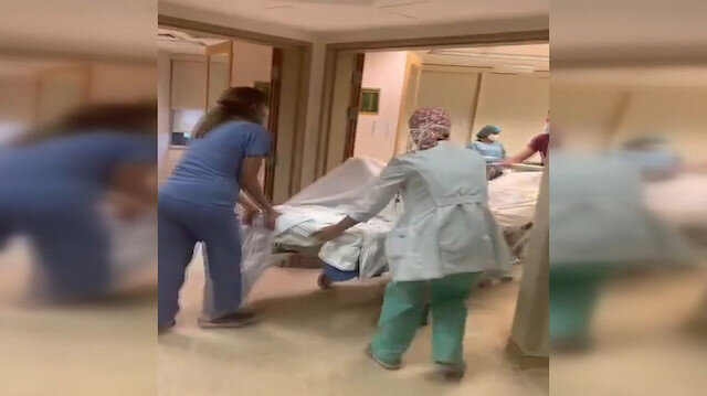 Beyrut'ta bir kadın patlamaya doğumhanede yakalandı: Eşi o anları anbean kayda aldı