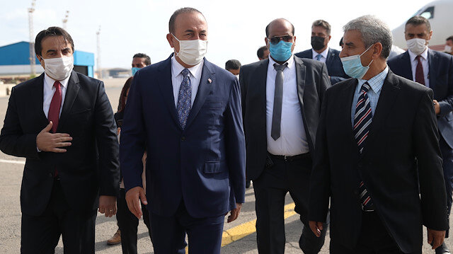 Bakan Çavuşoğlu'dan kritik ziyaret: Libya'ya ulaştı
