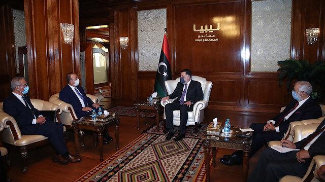 Bakan Çavuşoğlu, Libya Başbakanı Sarrac ile görüştü
