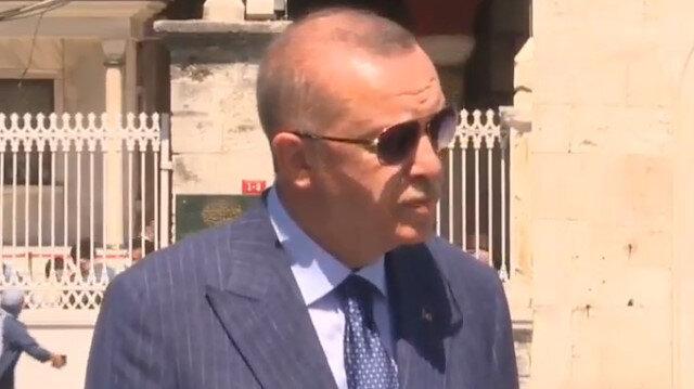 Cumhurbaşkanı Erdoğan Ayasofya Camii çıkışında önemli açıklamalarda bulundu: Hiçbir kıymeti harbiyesi yok