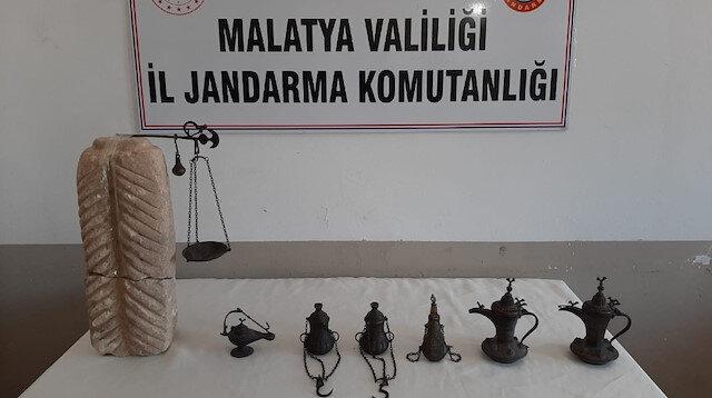 Malatya'da kaçak tarihi eserler ele geçirildi: Bir zanlı gözaltına alındı