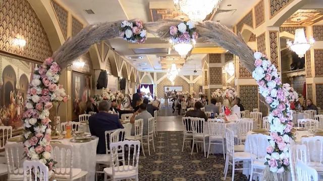 Normalleşme sonrası düğün salonlarında doluluk oranı yüzde 70'e çıktı