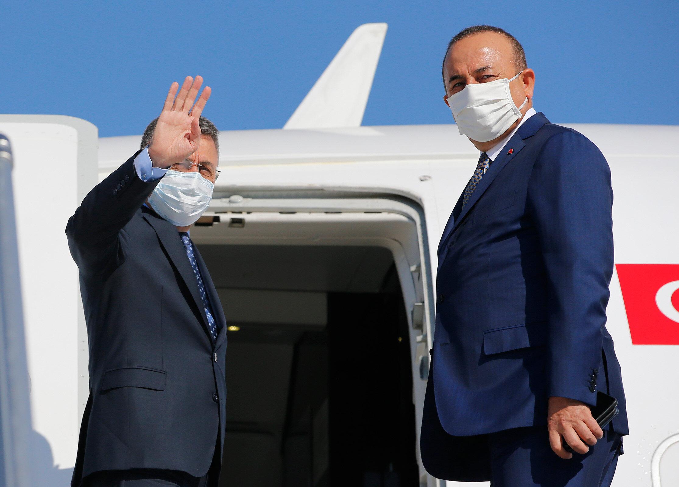 Fuat Oktay ile Mevlüt Çavuşoğlu Lübnan'a gitti.