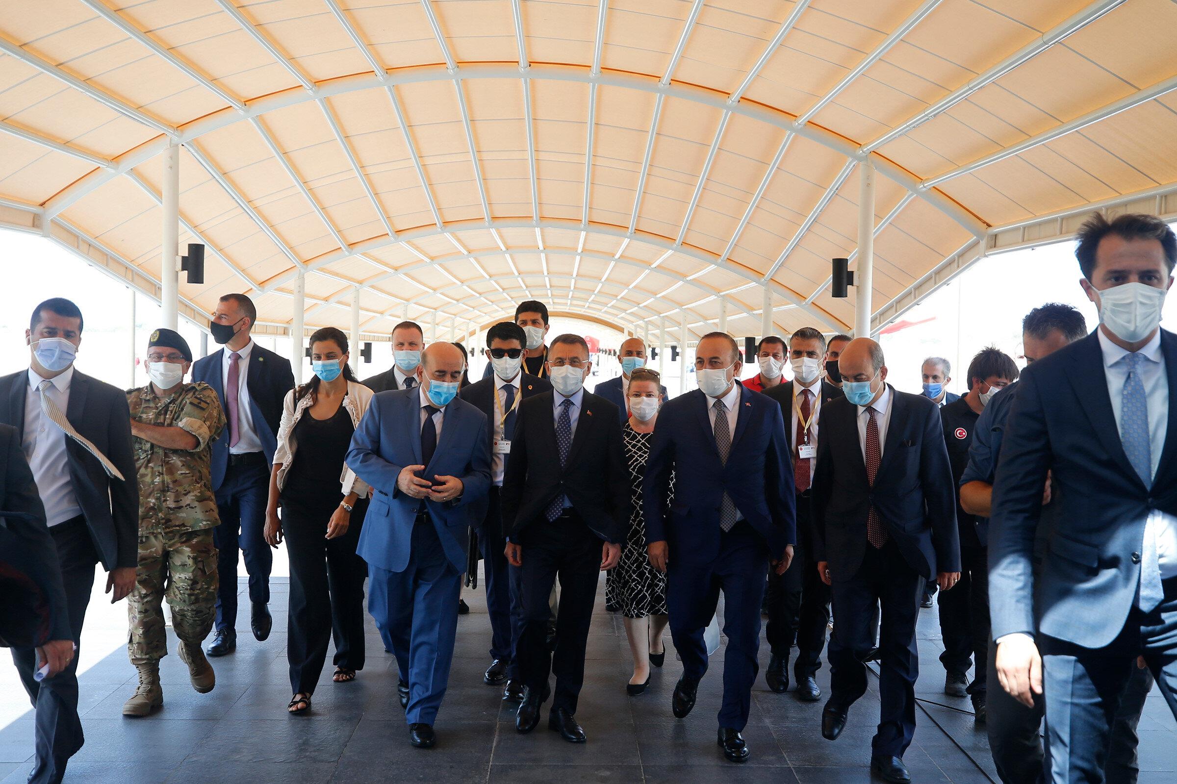 Fuat Oktay ile Mevlüt Çavuşoğlu Lübnan'da resmi ziyarette bulundu.