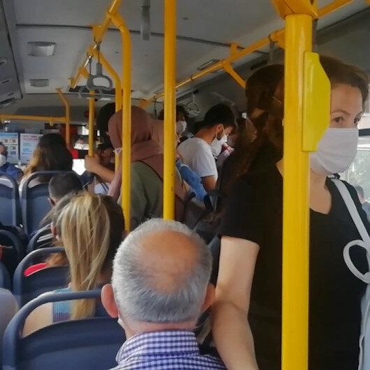 Kocaelide DGS sınavı öncesi halk otobüsünde nefes alacak yer kalmadı