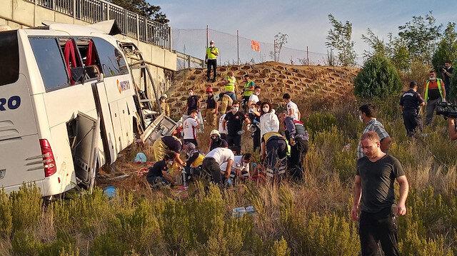 Sarıyer Kuzey Marmara Otoyolu'nda otobüs yoldan çıktı: 26 yaralı, 5 ölü