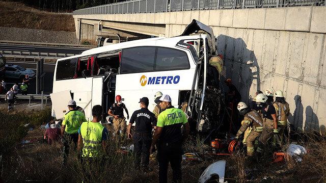 Kuzey Marmara Otoyolu'nda otobüs kazası: 5 kişi hayatını kaybetti