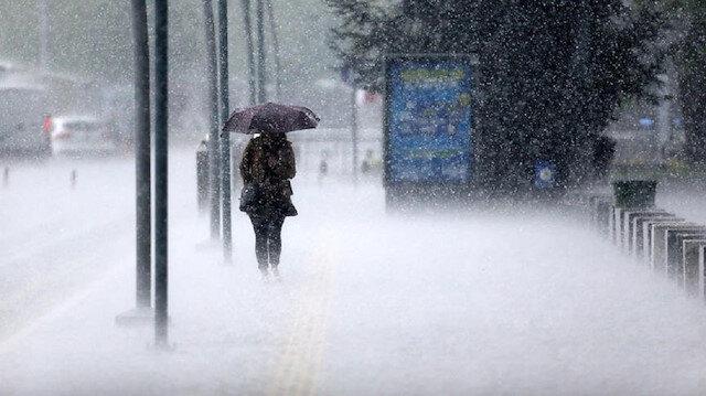 Meteorolojiden 7 ile kuvvetli ve gök gürültülü sağanak yağış uyarısı yapıldı