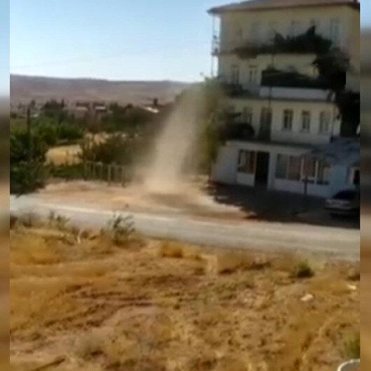 Elazığda meydana gelen hortum vatandaşlar tarafından görüntülendi