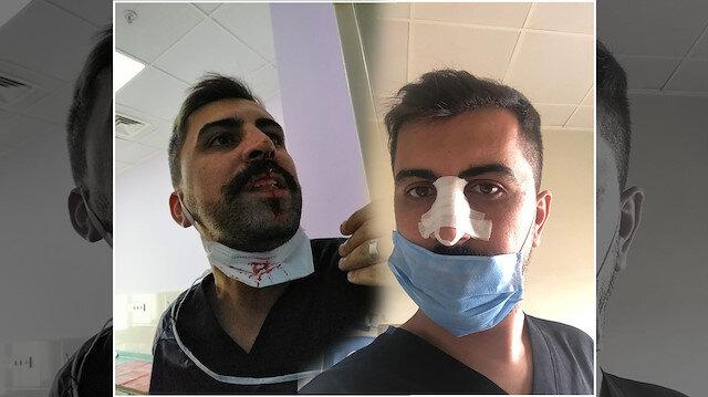 Sağlık çalışanlarına şiddet durdurulamıyor: Sosyal mesafe uyarısı yapan hemşirenin burnunu kırdı