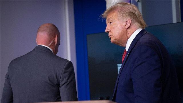 ABD Başkanı Trump yaptığı basın toplantısı sırasında Gizli Servis tarafından apar topar salondan çıkarıldı