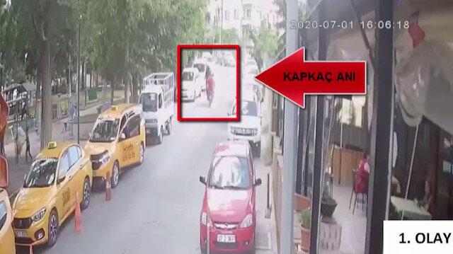 Motosikletli kapkaççılar önce güvenlik kameralarına sonra polislere yakalandı