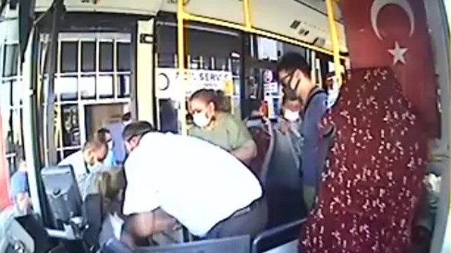 Mersin'de otobüs şoförü fenalaşan yolcuyu hastaneye yetiştirdi