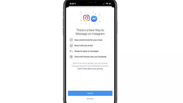 Facebook, Messenger ile Instagram'a el attı