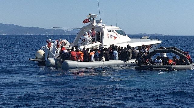 Ölüme terk edilen 125 göçmeni Türk sahil ekipleri kurtardı