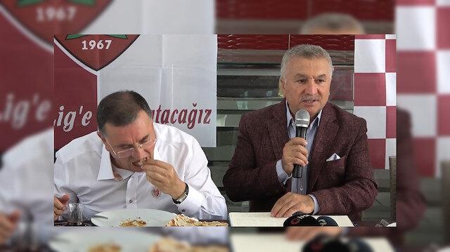 Hatayspor'dan kebapçıda sıra dışı basın toplantısı