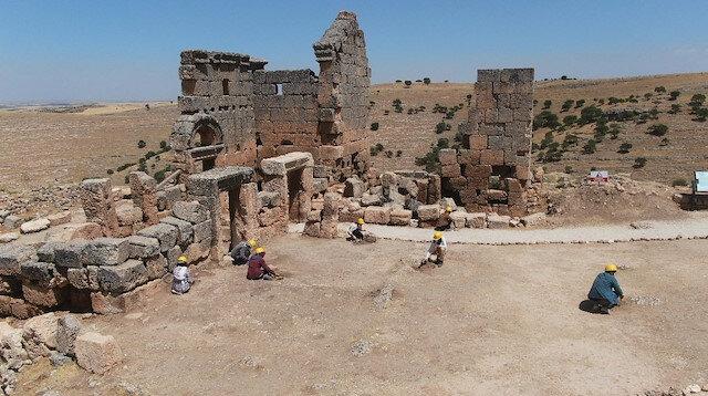Gönüllü 100 elçi 3 bin yıllık Zerzevan Kalesi'nde tarihi gün yüzüne çıkarıyor