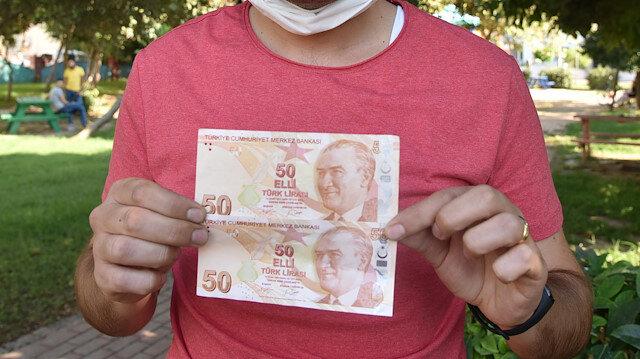 Görünce gözlerine inanamadı: Hatalı basım 50 TL'ye 50 bin lira istiyor