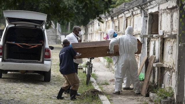 Koronavirüs nedeniyle Hindistan'da 948, Brezilya'da 758, Meksika'da 673 kişi daha öldü