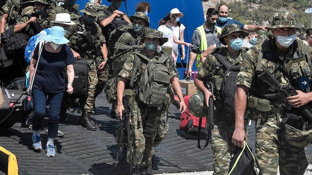 Yunan ordusundan yeni provokasyon: Turist feribotuyla Meis adasına asker konuşlandırdılar