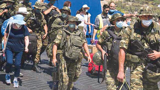Meis'e asker çıkardılar: Yunanistan'ın tahriki sonrası Türk savaş gemilerimiz bölgede bekliyor