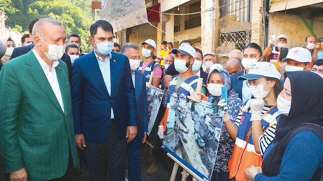 Afetin izleri silinecek: Cumhurbaşkanı Erdoğan afet bölgesi Giresun'da atılacak tüm adımları sıraladı