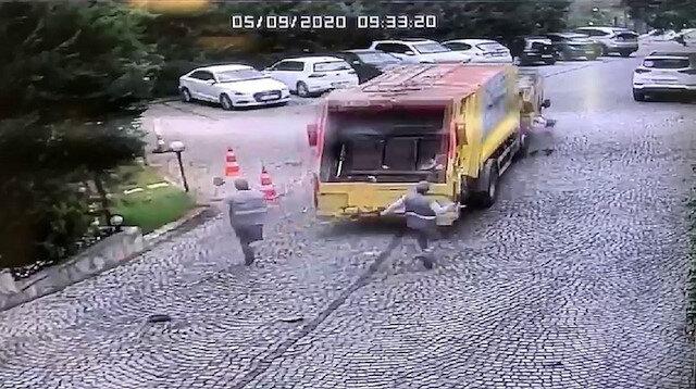 Sarıyer'de çöp kamyonu dehşeti