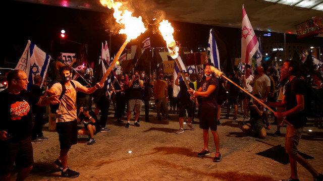 İsrail'de binlerce kişi yürüdü: Netanyahu evine dön